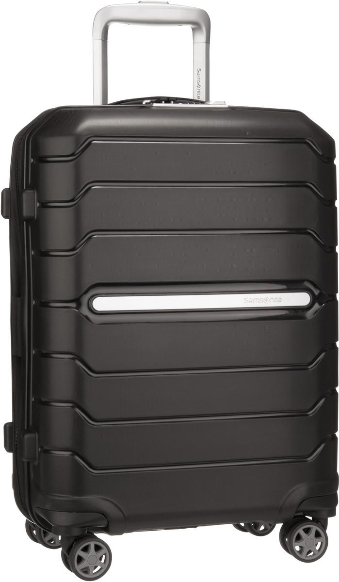 Reisegepaeck für Frauen - Samsonite Trolley Koffer Flux Spinner 55 Expandable Black (37 Liter)  - Onlineshop Taschenkaufhaus