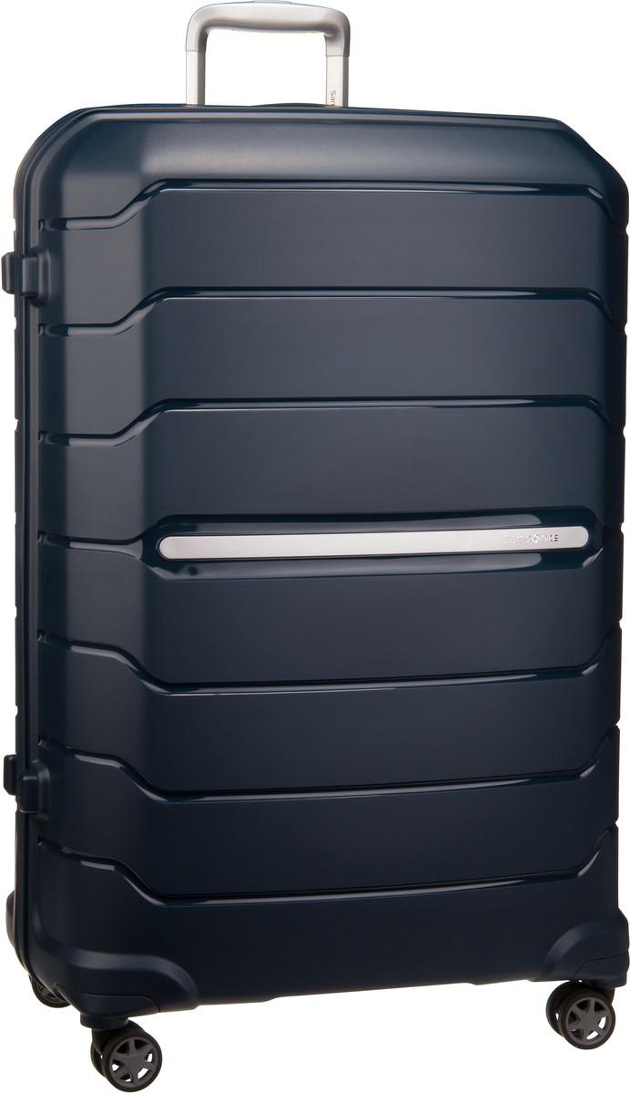 Reisegepaeck für Frauen - Samsonite Trolley Koffer Flux Spinner 81 Expandable Navy Blue (130 Liter)  - Onlineshop Taschenkaufhaus