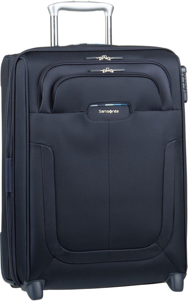 Reisegepaeck für Frauen - Samsonite Trolley Koffer Duosphere Upright 55 exp Dark Blue (40 Liter)  - Onlineshop Taschenkaufhaus