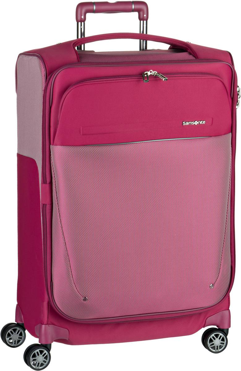 Reisegepaeck für Frauen - Samsonite Trolley Koffer B Lite Icon Spinner 63 exp Ruby Red (55 Liter)  - Onlineshop Taschenkaufhaus