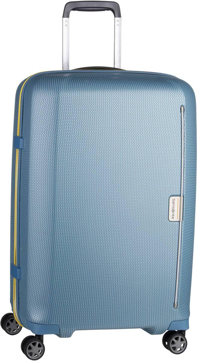 Reisegepaeck für Frauen - Samsonite Trolley Koffer Mixmesh Spinner 69 Niagara Blue Yellow (68 Liter)  - Onlineshop Taschenkaufhaus