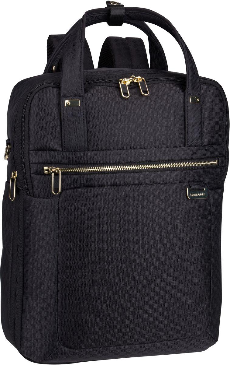 Rucksaecke für Frauen - Samsonite Rucksack Daypack Uplite 3 Way Laptop Backpack Exp Black Gold (12 Liter)  - Onlineshop Taschenkaufhaus