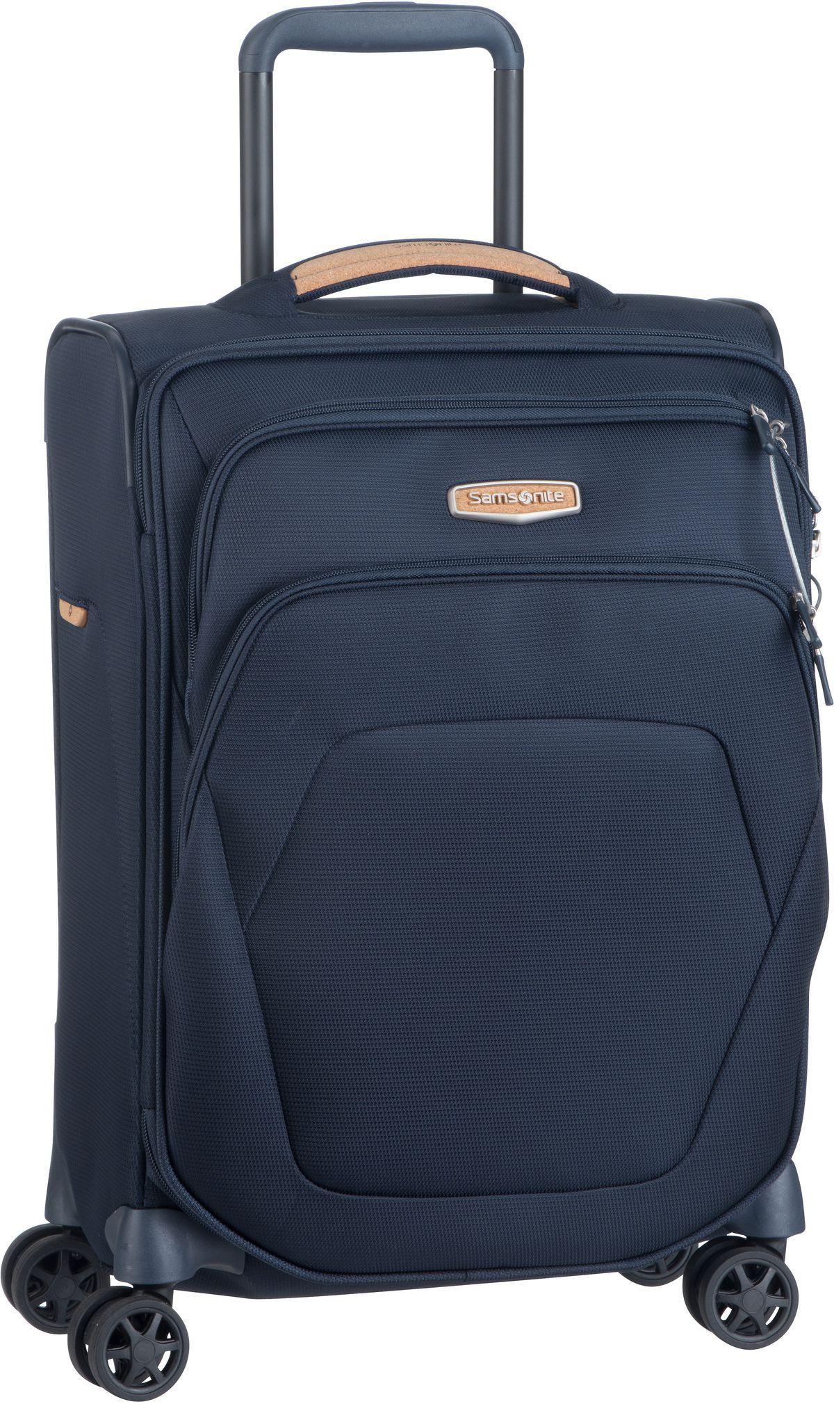 Reisegepaeck für Frauen - Samsonite Trolley Koffer Spark SNG ECO Spinner 55 Eco Blue (43 Liter)  - Onlineshop Taschenkaufhaus