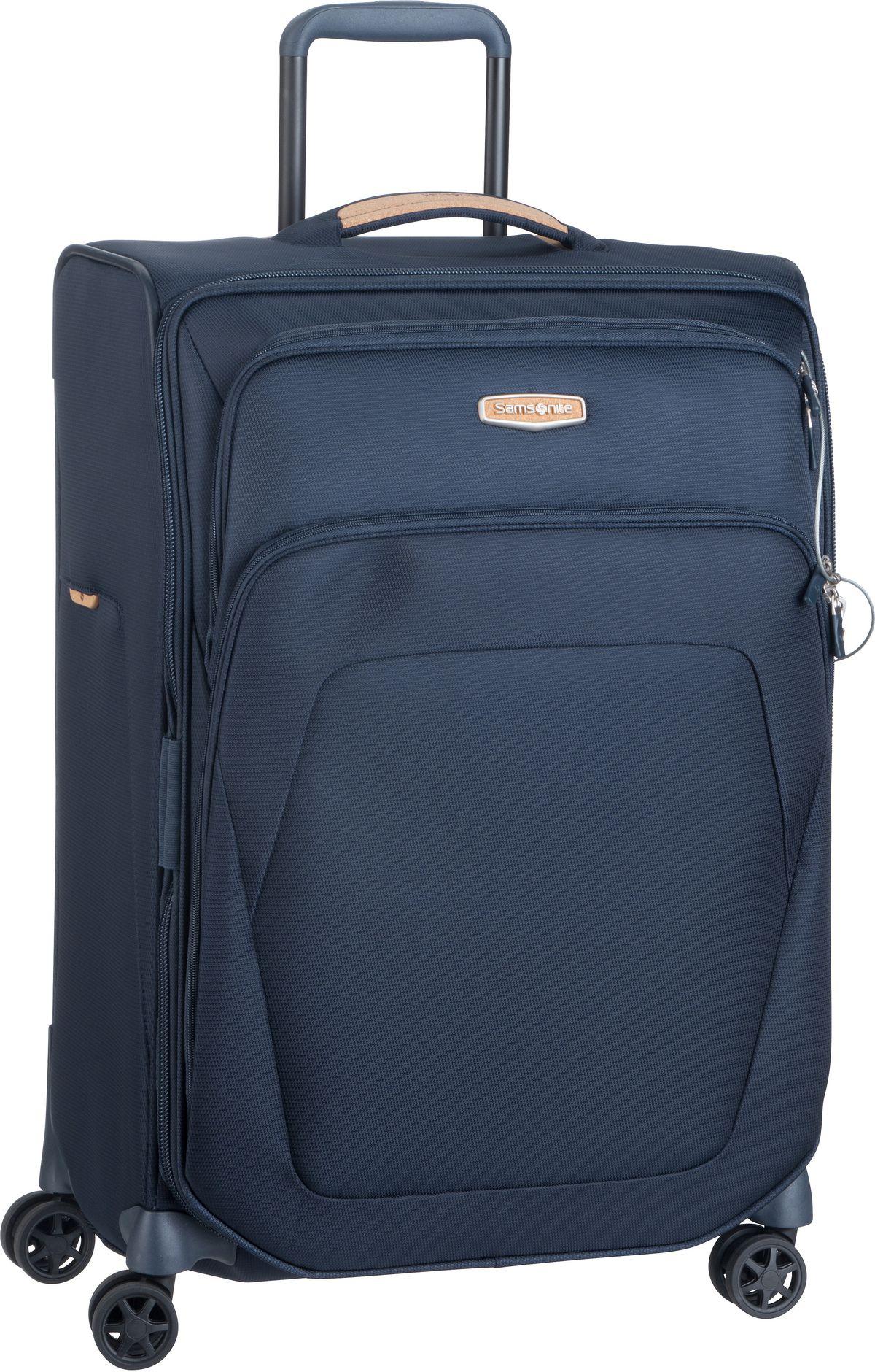 Reisegepaeck für Frauen - Samsonite Trolley Koffer Spark SNG ECO Spinner 67 Exp Eco Blue (82 Liter)  - Onlineshop Taschenkaufhaus