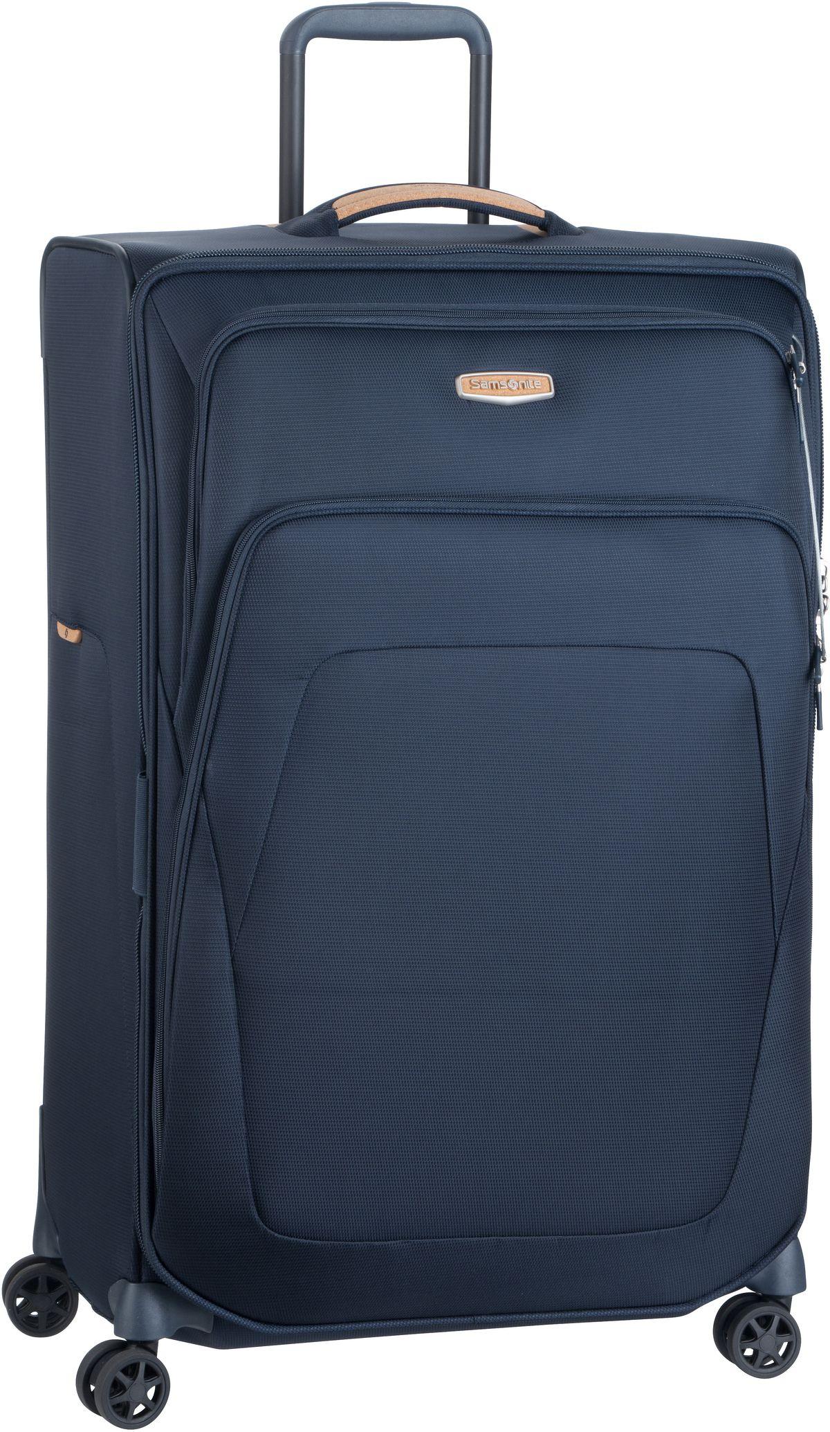 Reisegepaeck für Frauen - Samsonite Trolley Koffer Spark SNG ECO Spinner 79 Exp Eco Blue (124 Liter)  - Onlineshop Taschenkaufhaus
