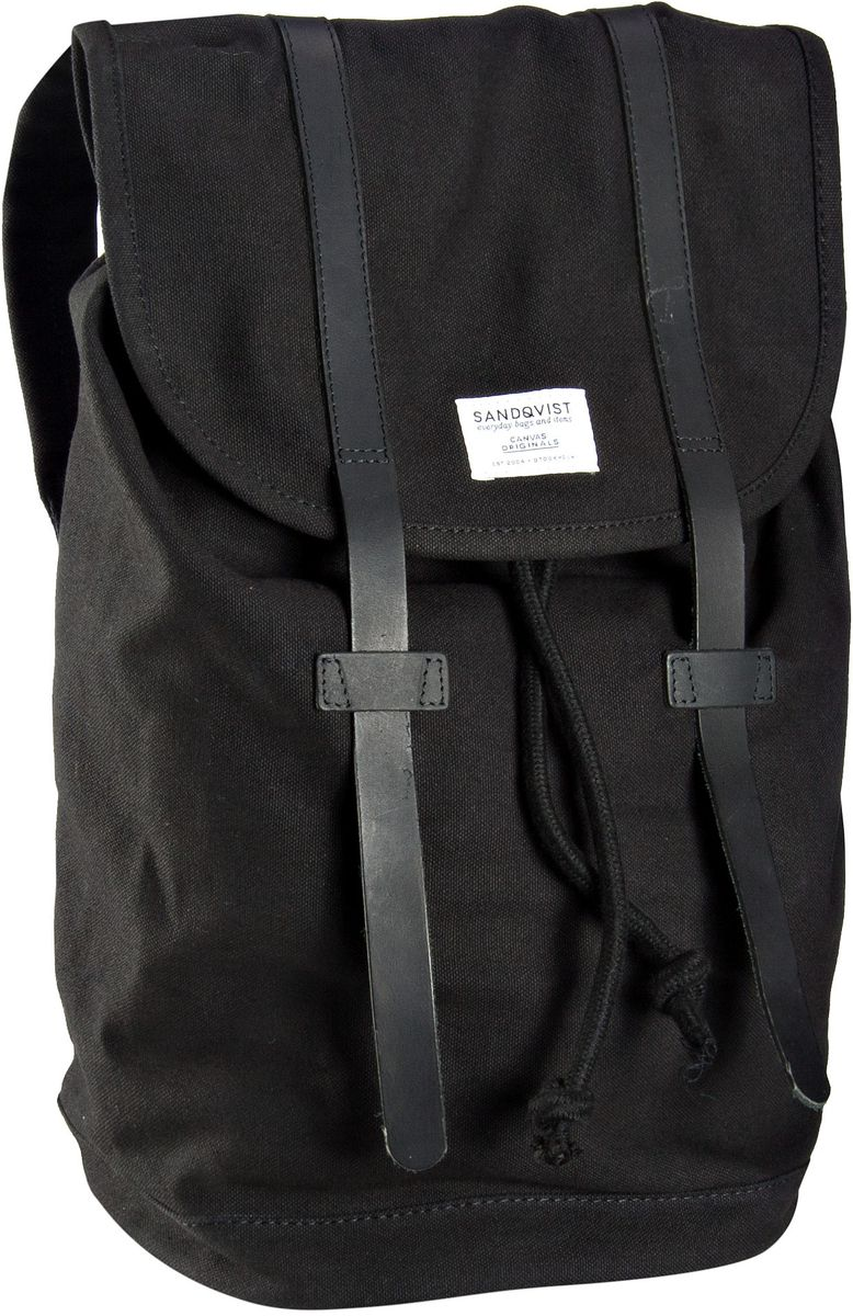 Laptoprucksack Stig Canvas Backpack Black (14 Liter)