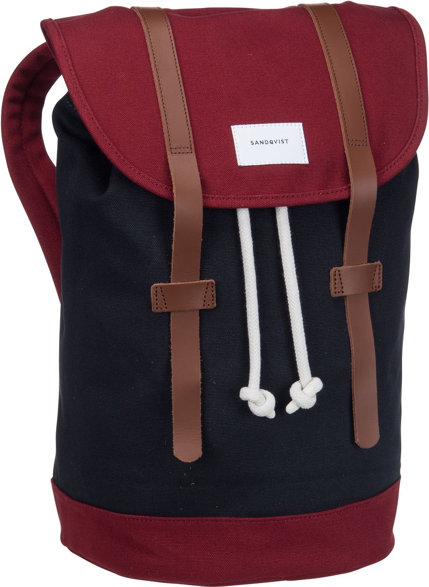 Laptoprucksack Stig Canvas Backpack Multi Blue/Burgundy (14 Liter)