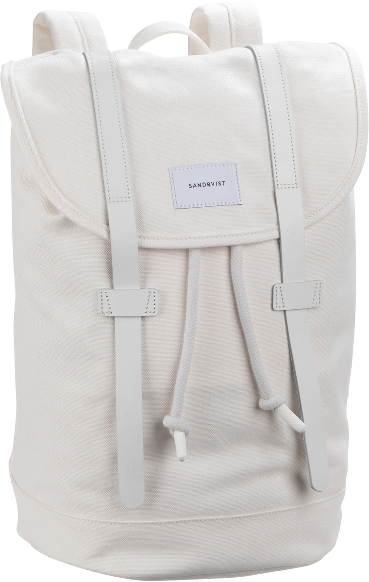 Laptoprucksack Stig Canvas Backpack Off White/White Leather (14 Liter)