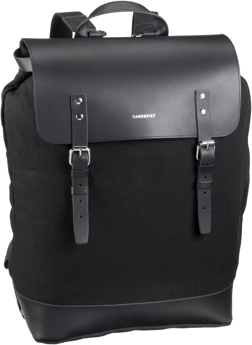 Laptoprucksack Hege Canvas Backpack Black (18 Liter)