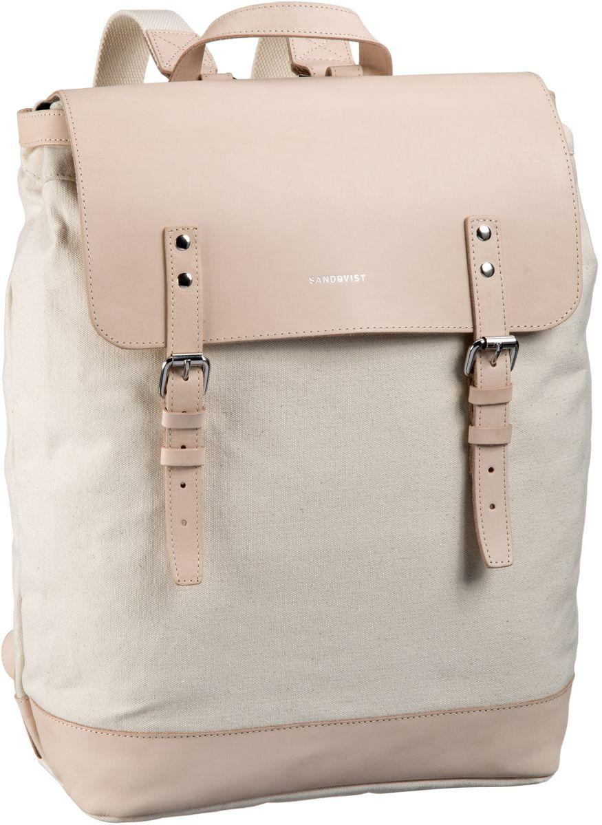 Sandqvist Hege Canvas Backpack Off White - Laptoprucksack