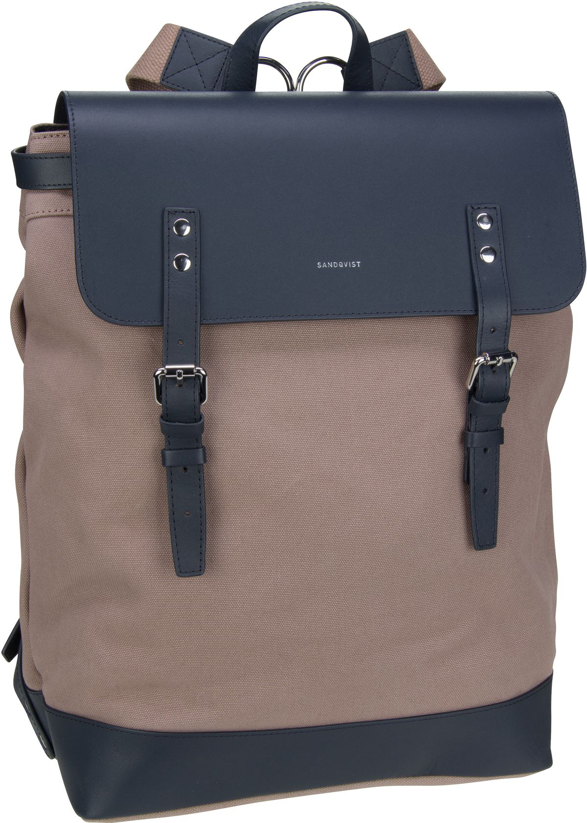 Laptoprucksack Hege Canvas Backpack Earth Brown/Navy Leather (18 Liter)
