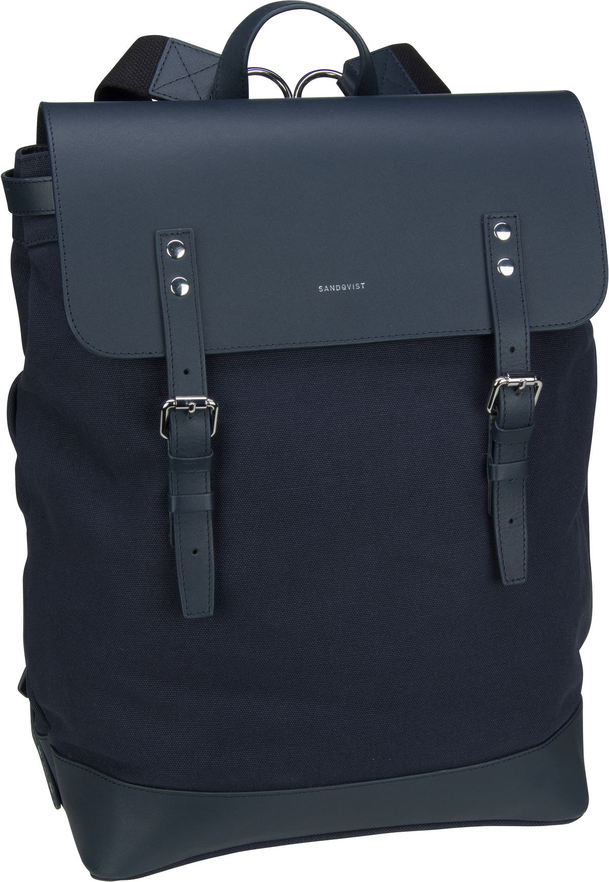 Laptoprucksack Hege Canvas Backpack Navy/Navy Leather (18 Liter)