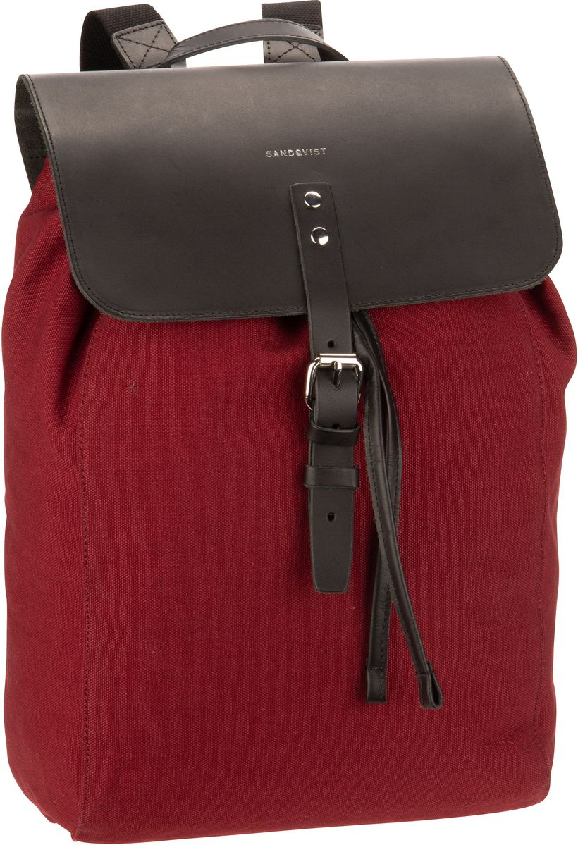 Sandqvist Laptoprucksack Alva Canvas Backpack Burgundy (9 Liter)