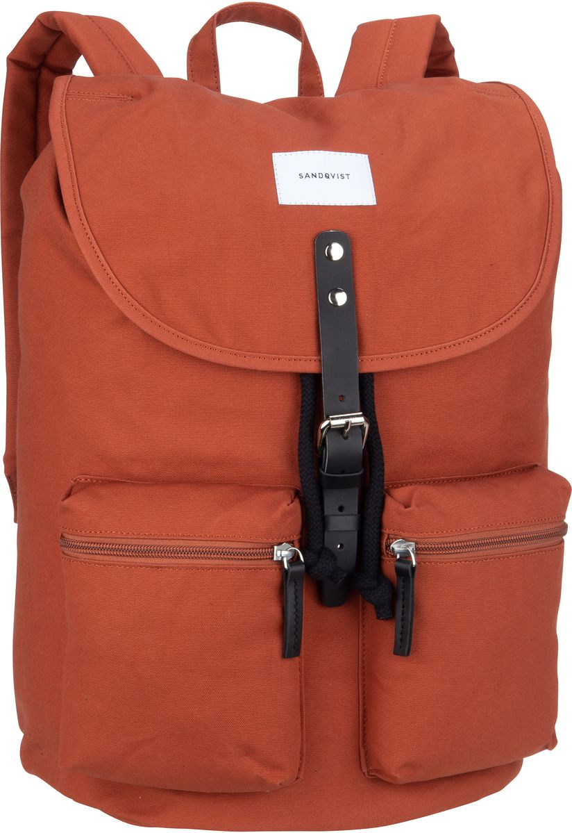 Sandqvist Laptoprucksack Roald Backpack Rust (17 Liter)