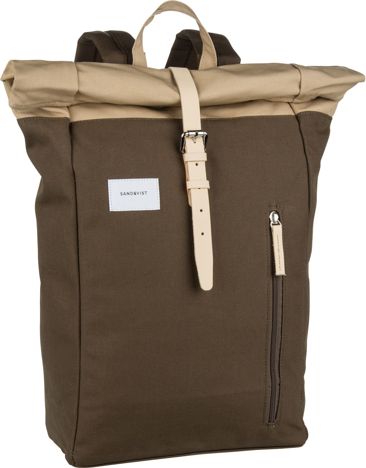 Laptoprucksack Dante Backpack Multi Olive/Natural Leather (18 Liter)