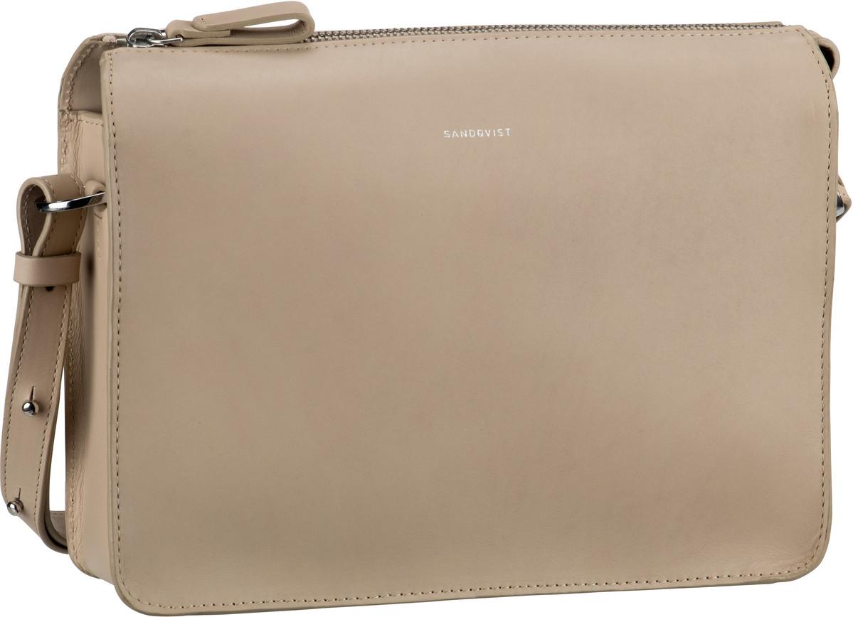 Umhängetasche Franka Leather Shoulder Bag Beige (4 Liter)