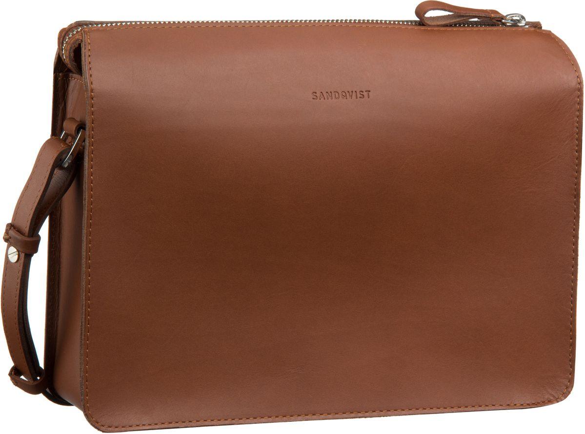 Umhängetasche Franka Leather Shoulder Bag Cognac Brown (4 Liter)