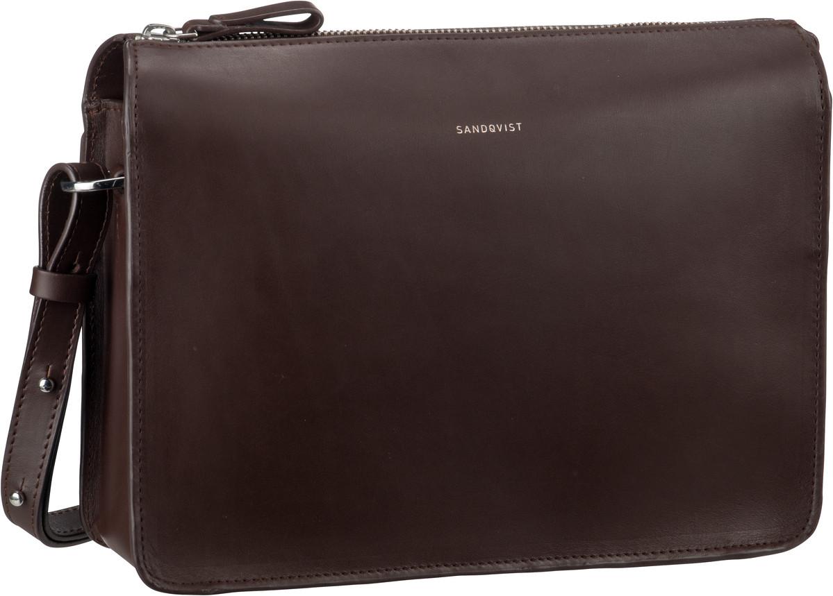 Umhängetasche Franka Leather Shoulder Bag Dark Brown (4 Liter)