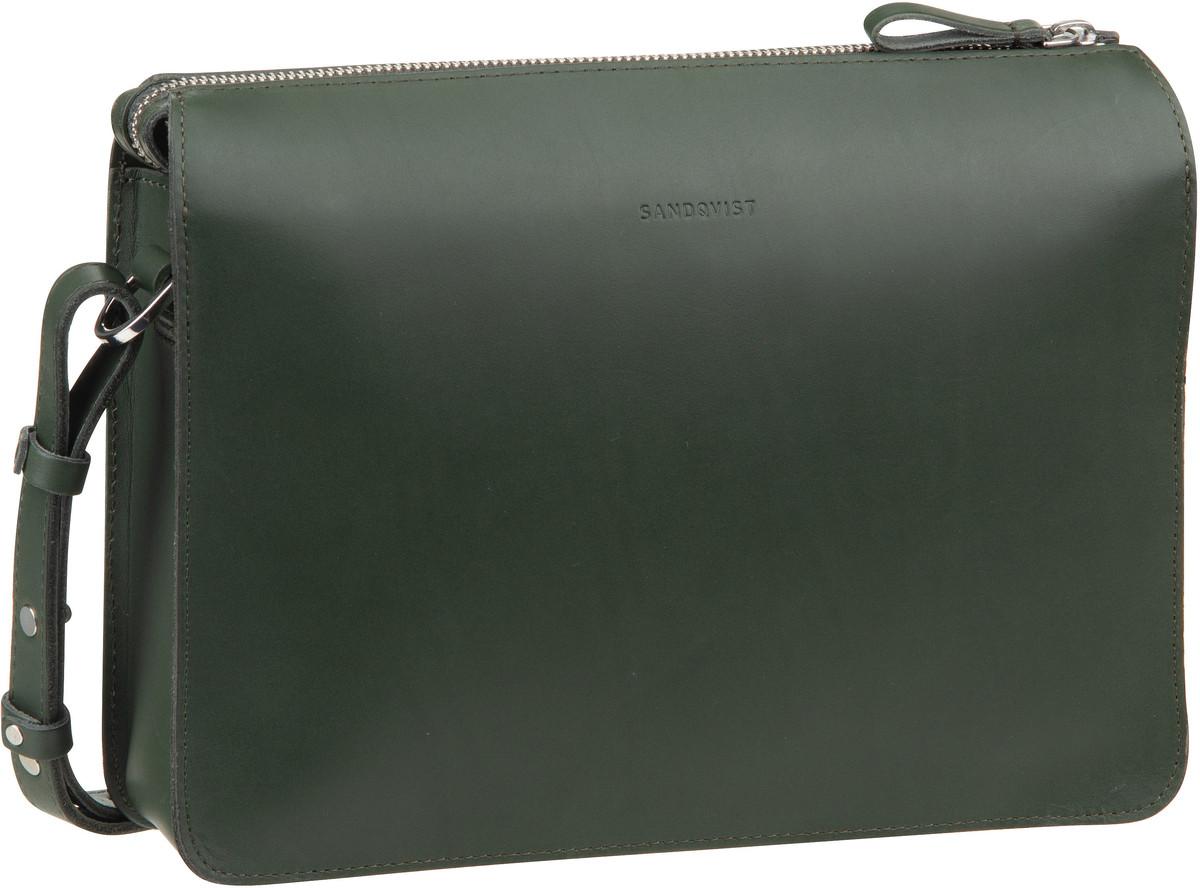 Umhängetasche Franka Leather Shoulder Bag Green (4 Liter)