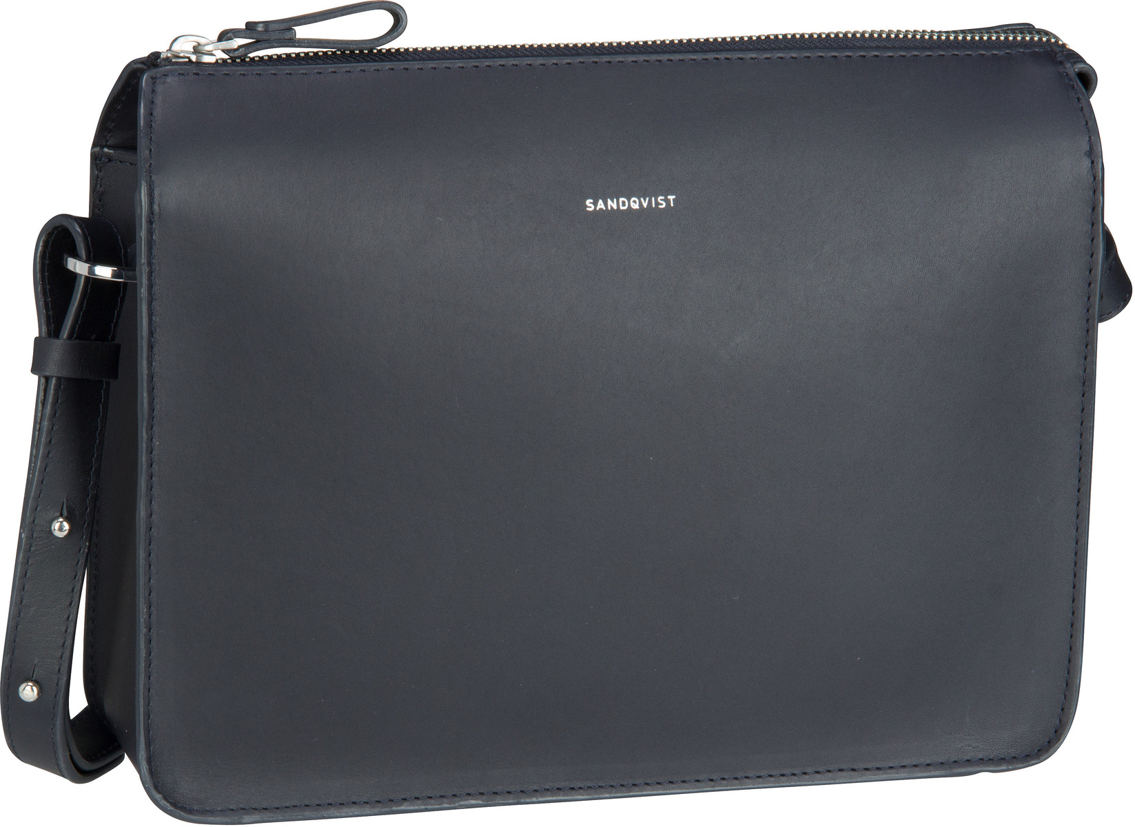 Umhängetasche Franka Leather Shoulder Bag Navy (4 Liter)