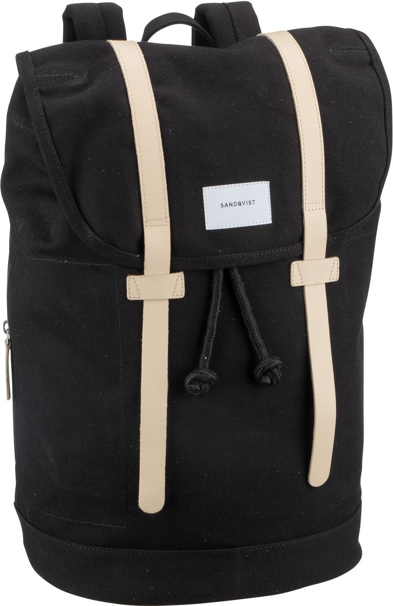Laptoprucksack Stig Large Backpack Black with Tan (18 Liter)