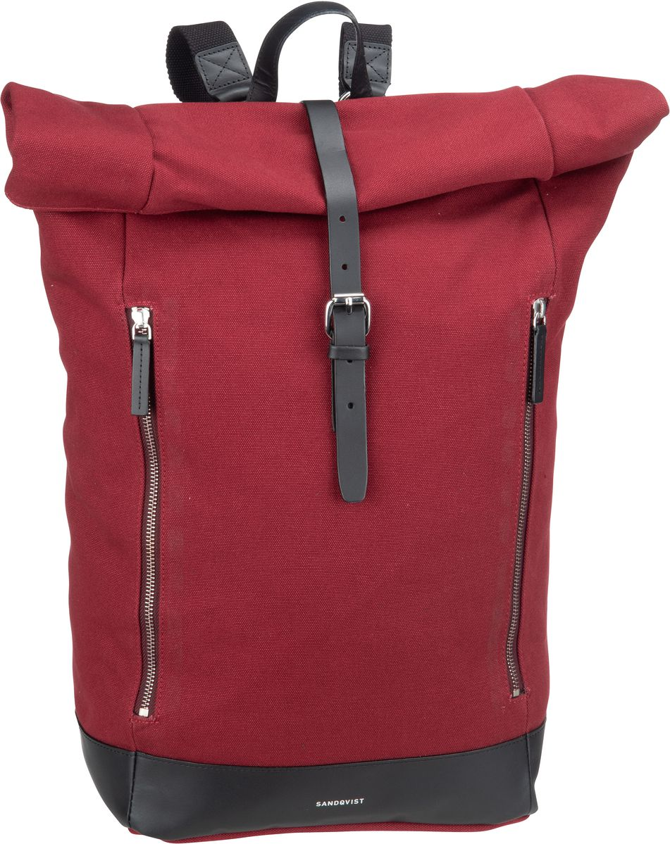 Sandqvist Laptoprucksack Marius Rolltop Backpack Burgundy (19 Liter)