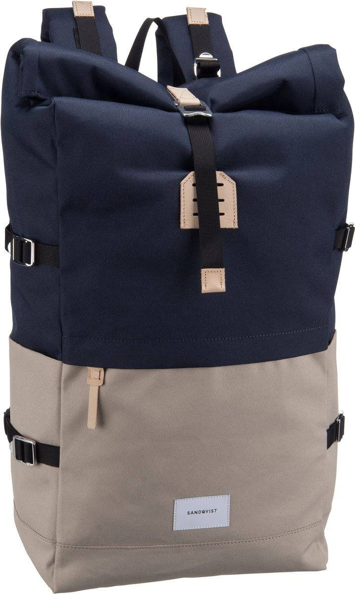 Laptoprucksack Bernt Rolltop Backpack Multi Beige/Blue (20 Liter)