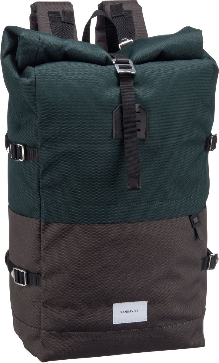 Laptoprucksack Bernt Rolltop Backpack Multi Deep Green/Dark Grey (20 Liter)