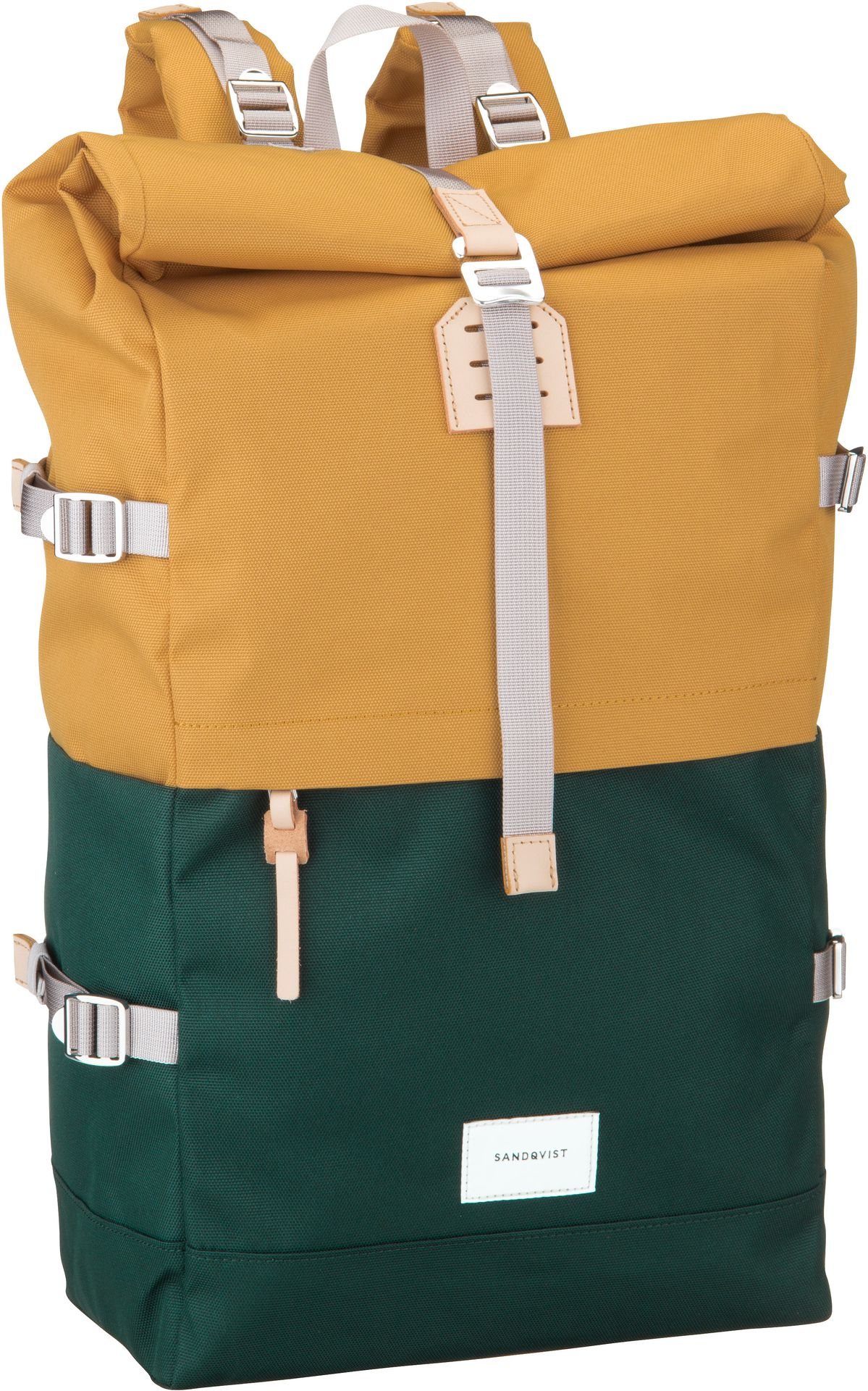 Laptoprucksack Bernt Rolltop Backpack Multi Honey Yellow/Dark Green (20 Liter)