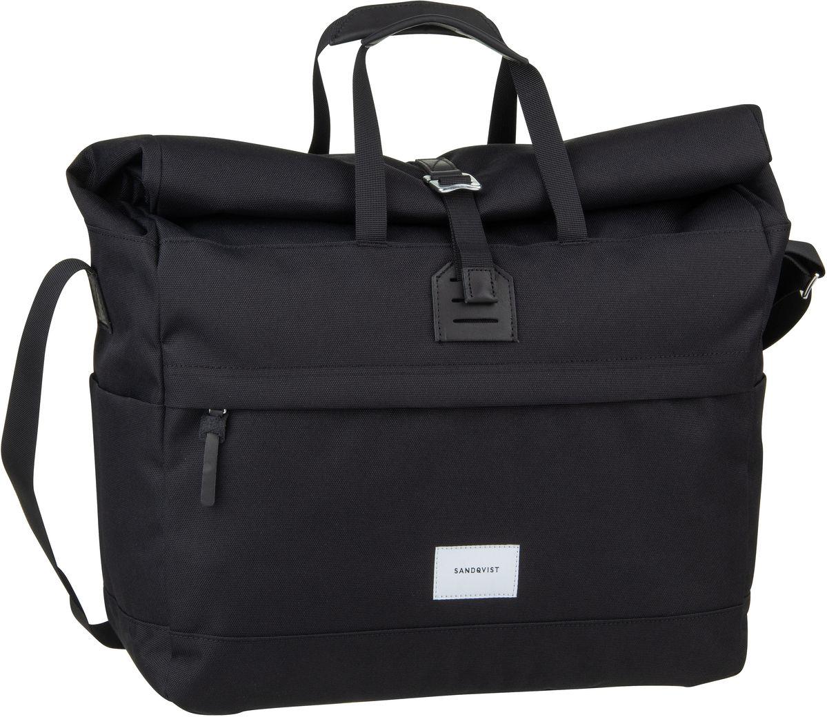 Umhängetasche Tor Rolltop Messenger Bag Black (22 Liter)
