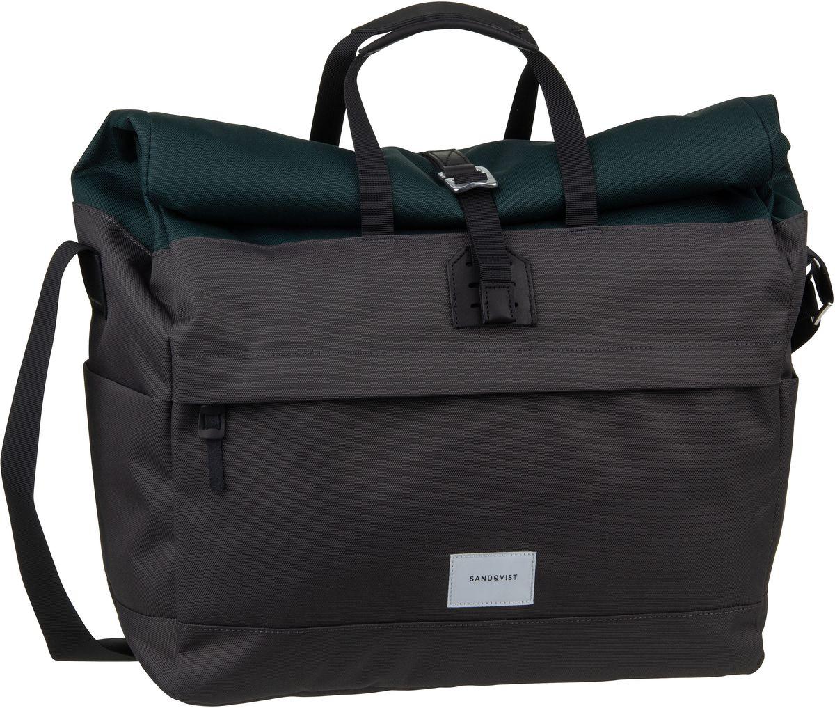 Umhängetasche Tor Rolltop Messenger Bag Multi Deep Green/Dark Grey (22 Liter)