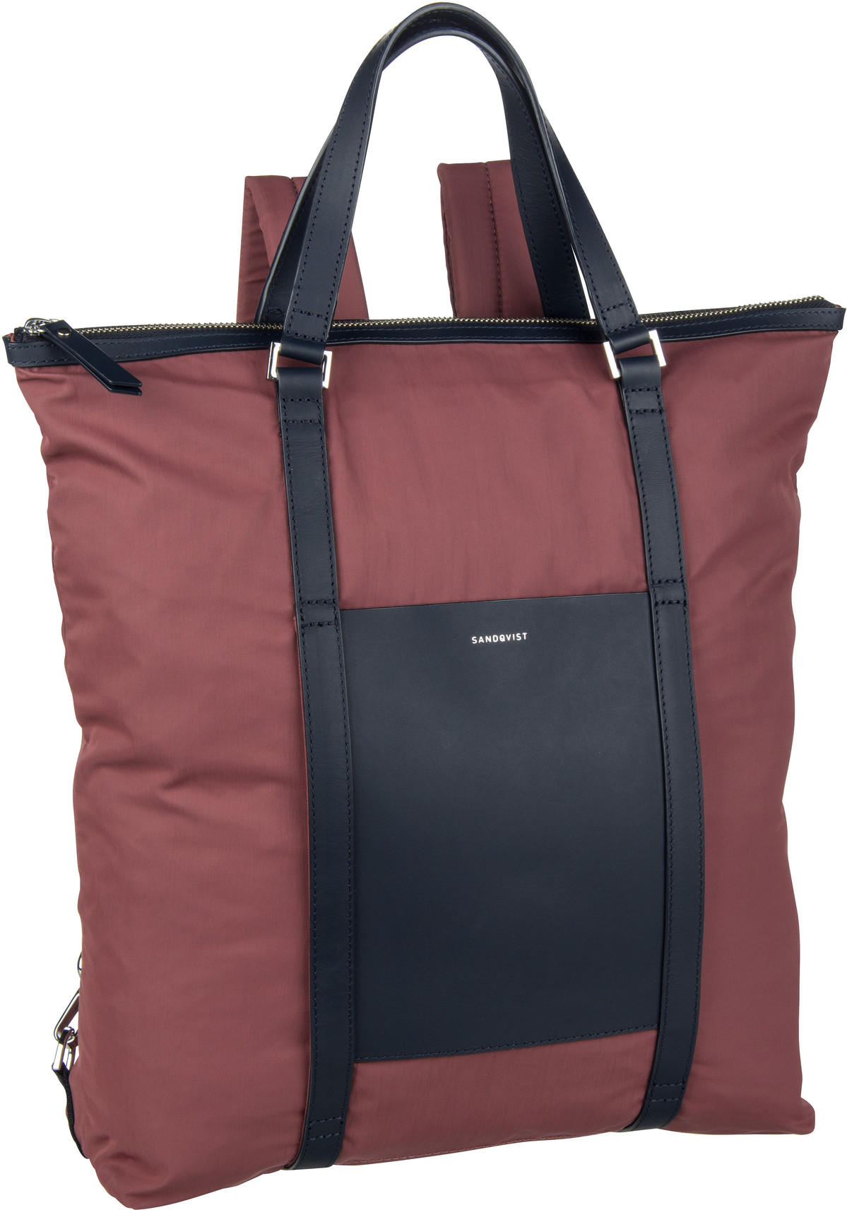 Rucksack / Daypack Marta Backpack Maroon/Navy Leather (12 Liter)