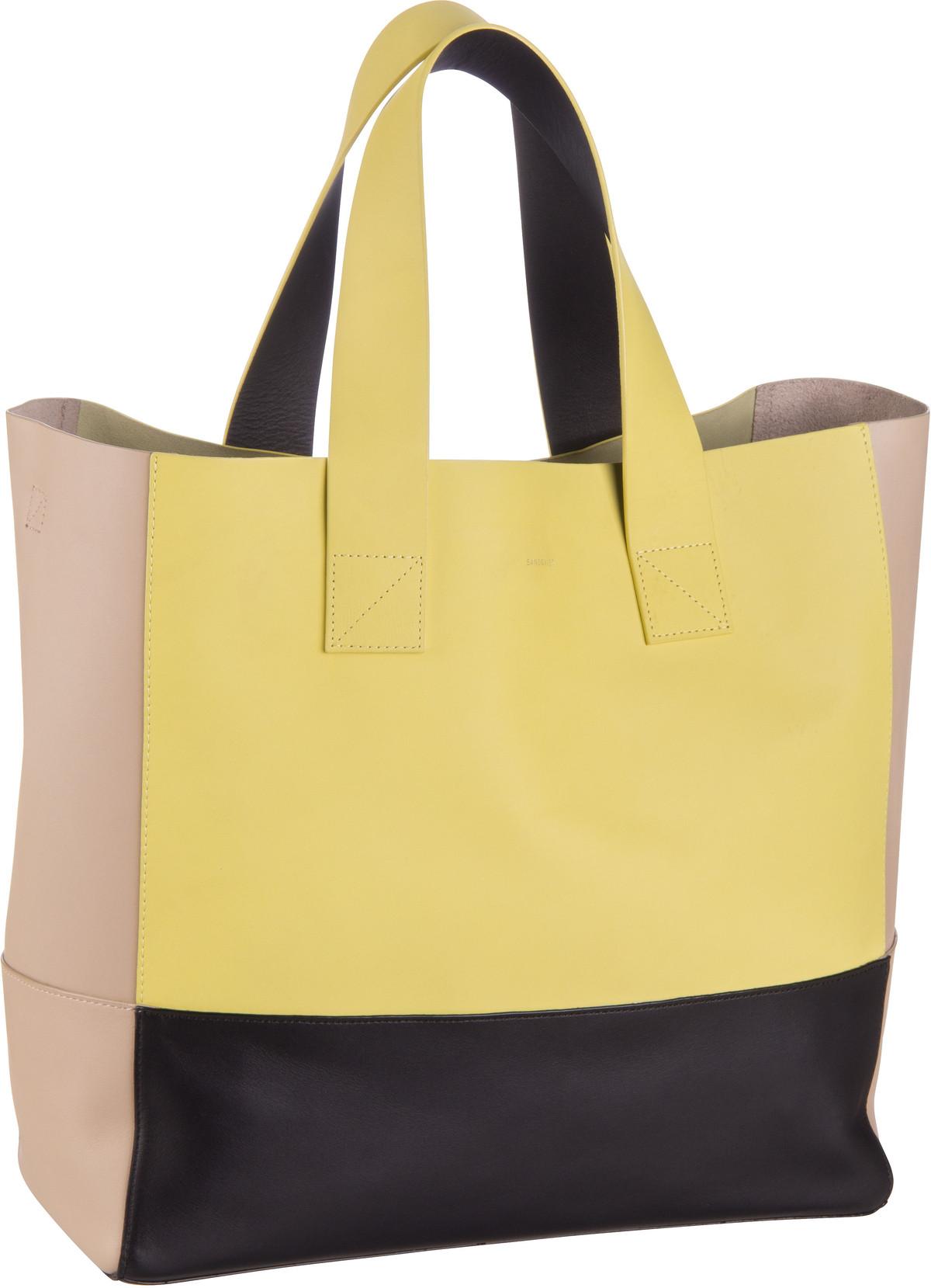 Handtasche Iris Tote Bag Lemon/Black/Beige (19 Liter)