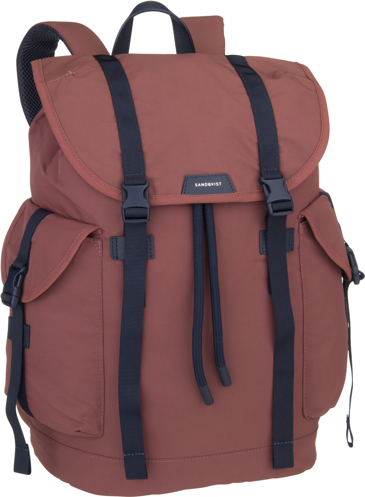 Rucksack / Daypack Charlie Backpack Maroon/Navy Leather (16 Liter)