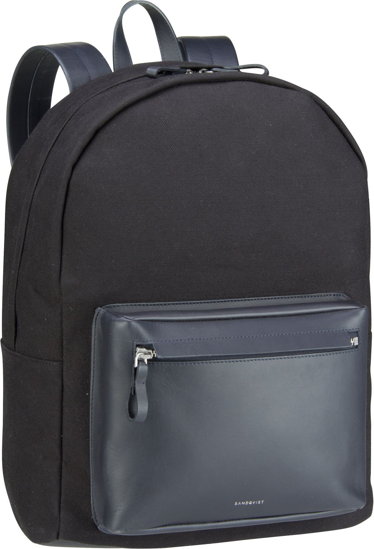 Rucksack / Daypack Ingvar Twill Backpack Black Twill/Navy Leather (15 Liter)