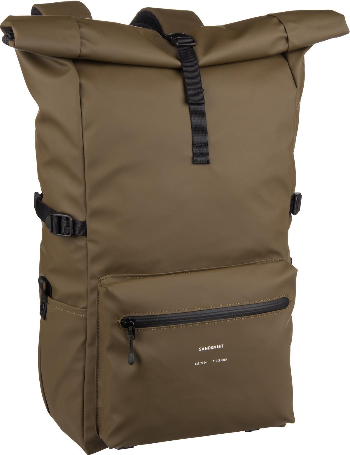 Rucksack / Daypack Ruben Rolltop Backpack Dark Olive (18 Liter)