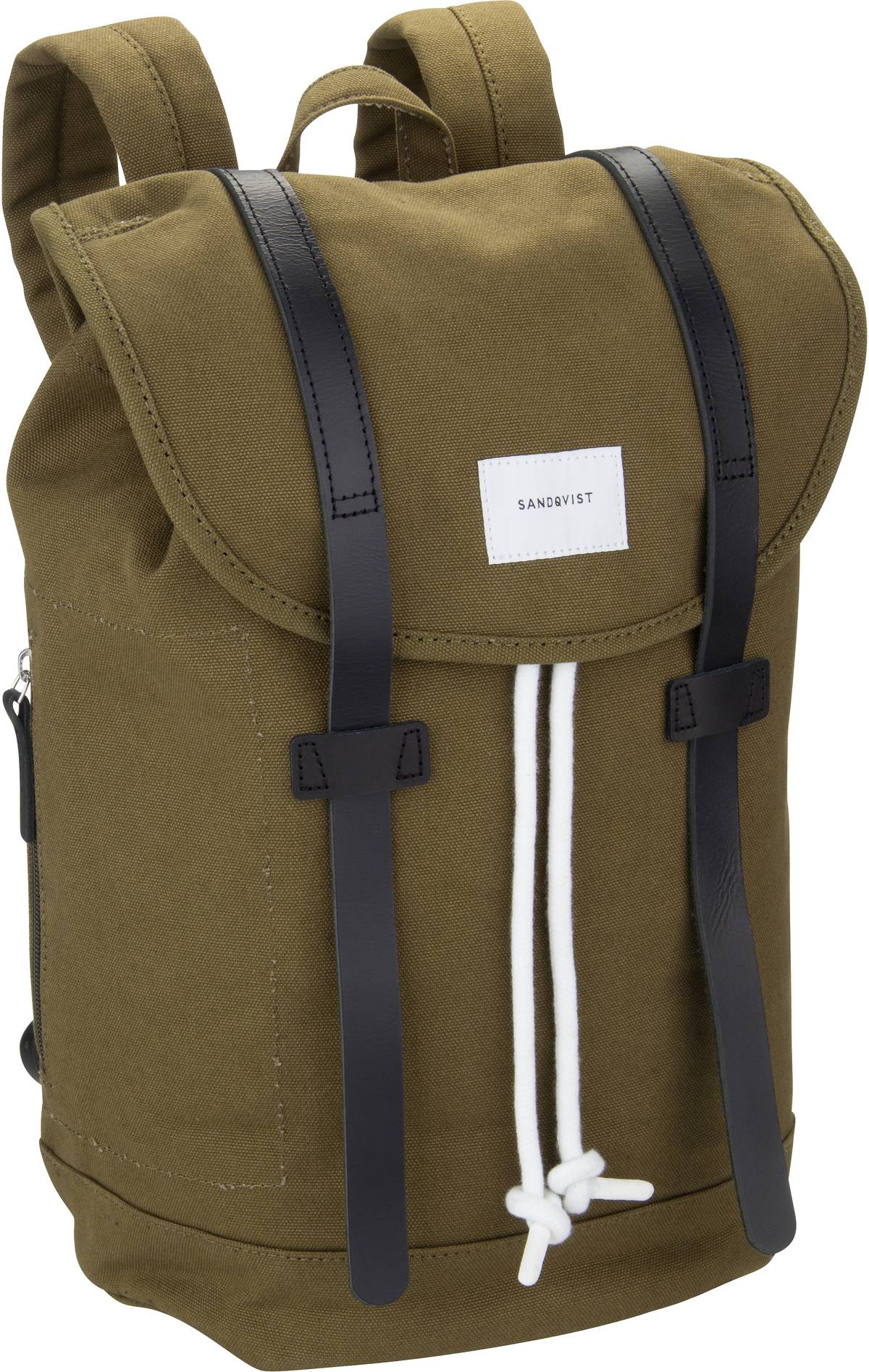 Rucksack / Daypack Stig Backpack Dark Olive/Black Leather