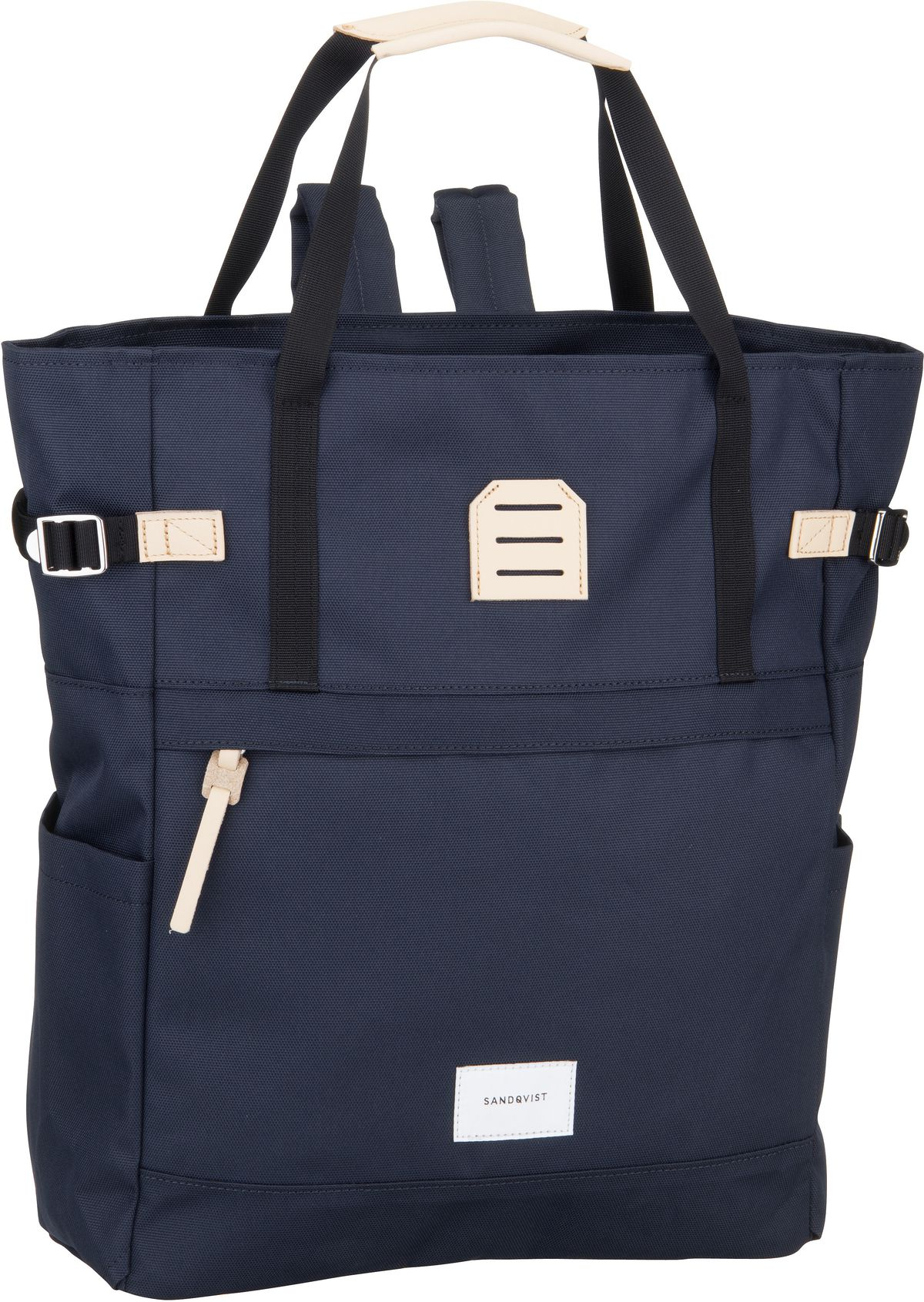 Rucksack / Daypack Roger Totepack Navy/Natural Leather
