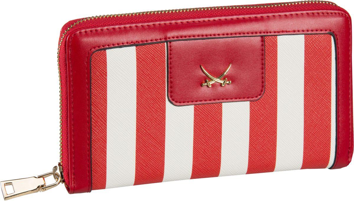 Sansibar Stripes 1019 Wallet Red - Kellnerbörse