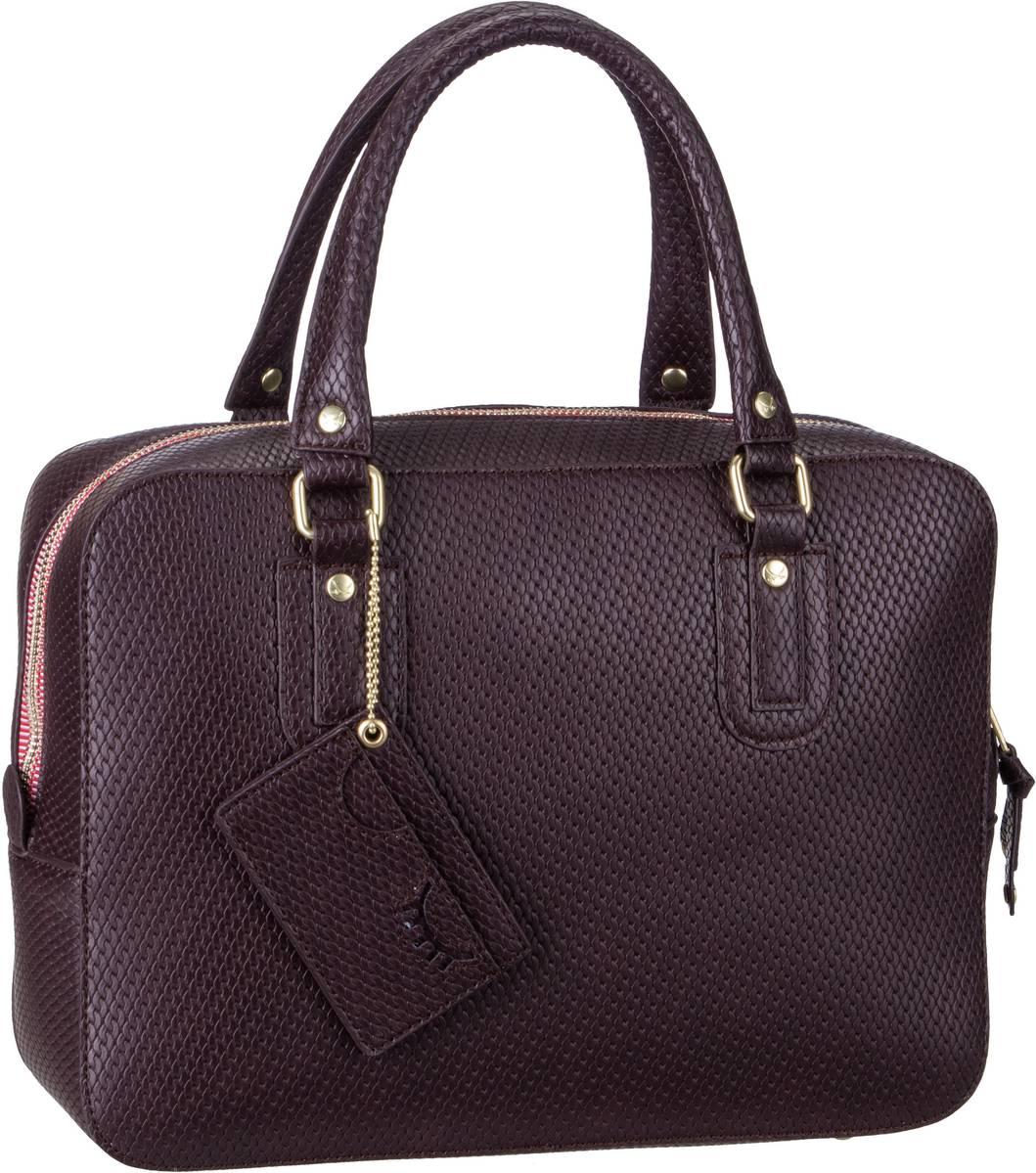 Handtasche Bowling Bag 1258 Blackberry