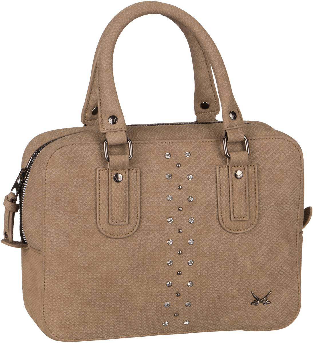 Handtasche Bowling Bag 1320 Taupe