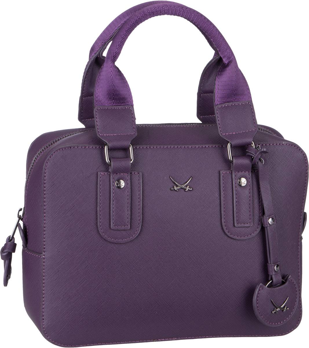 Handtasche Bowling Bag 1331 Aubergine