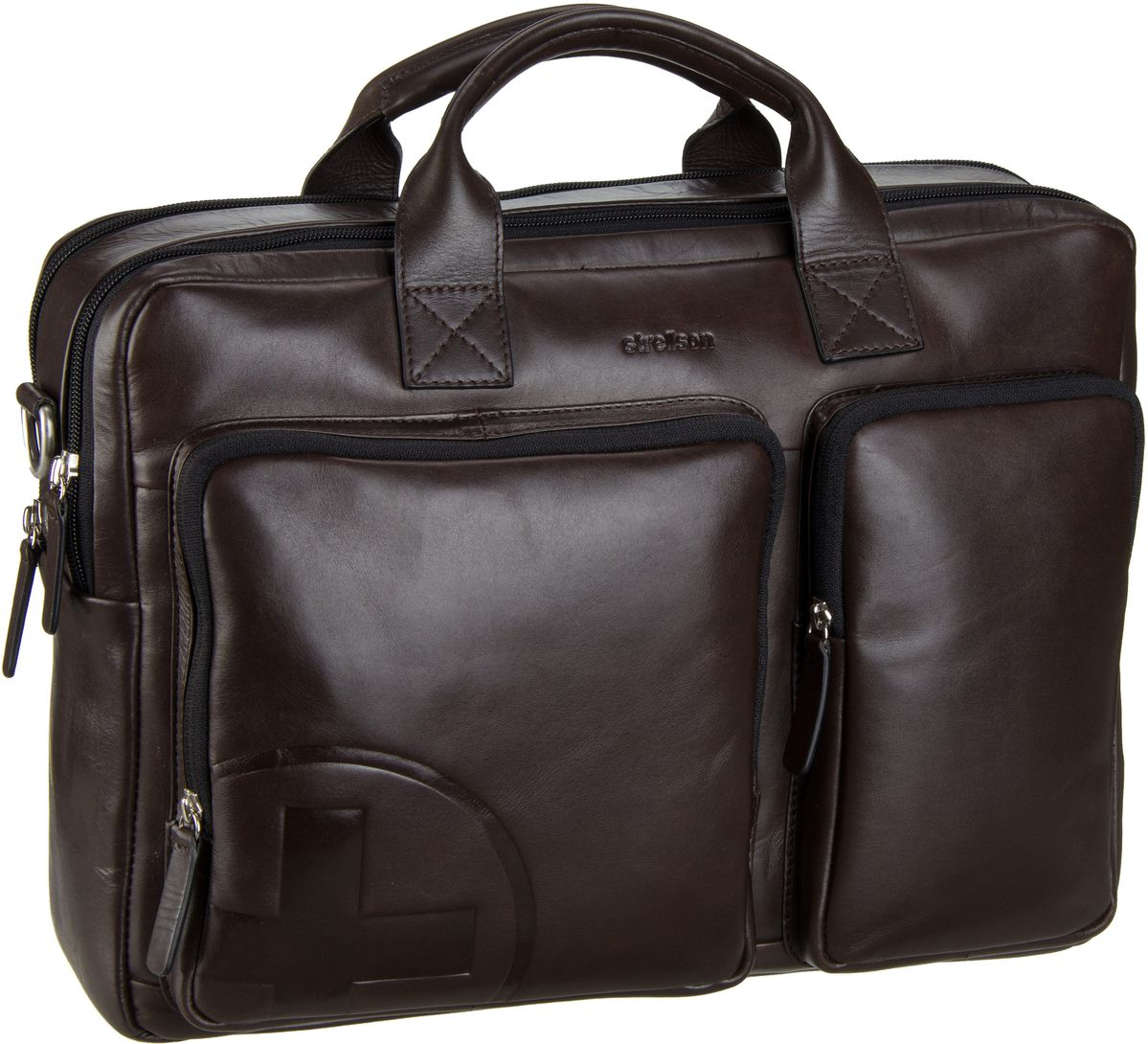 Klein Döbbern Angebote Strellson Jones Soft Briefcase Brown - Aktentasche