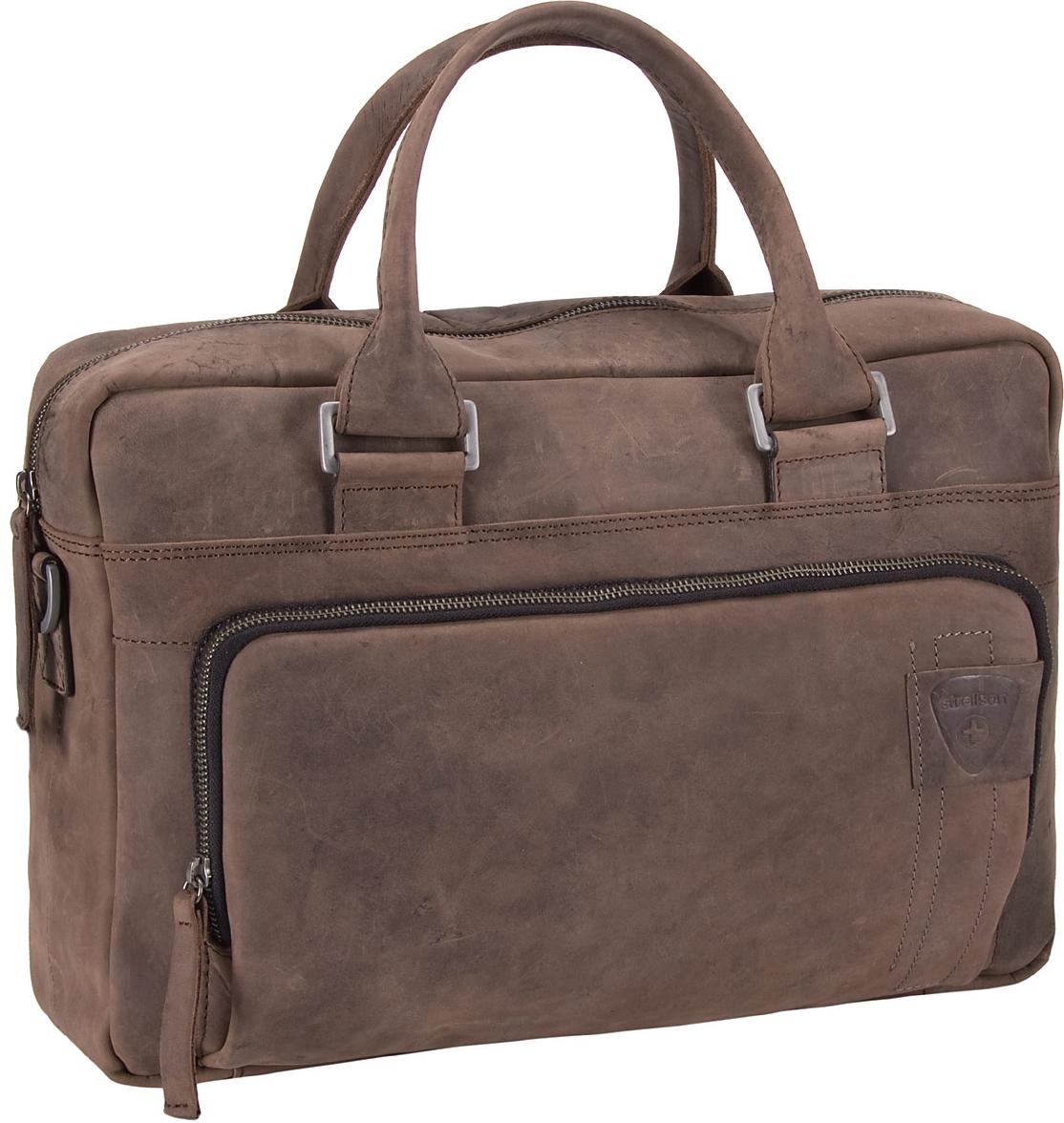 Richmond Soft Briefcase Dark Brown