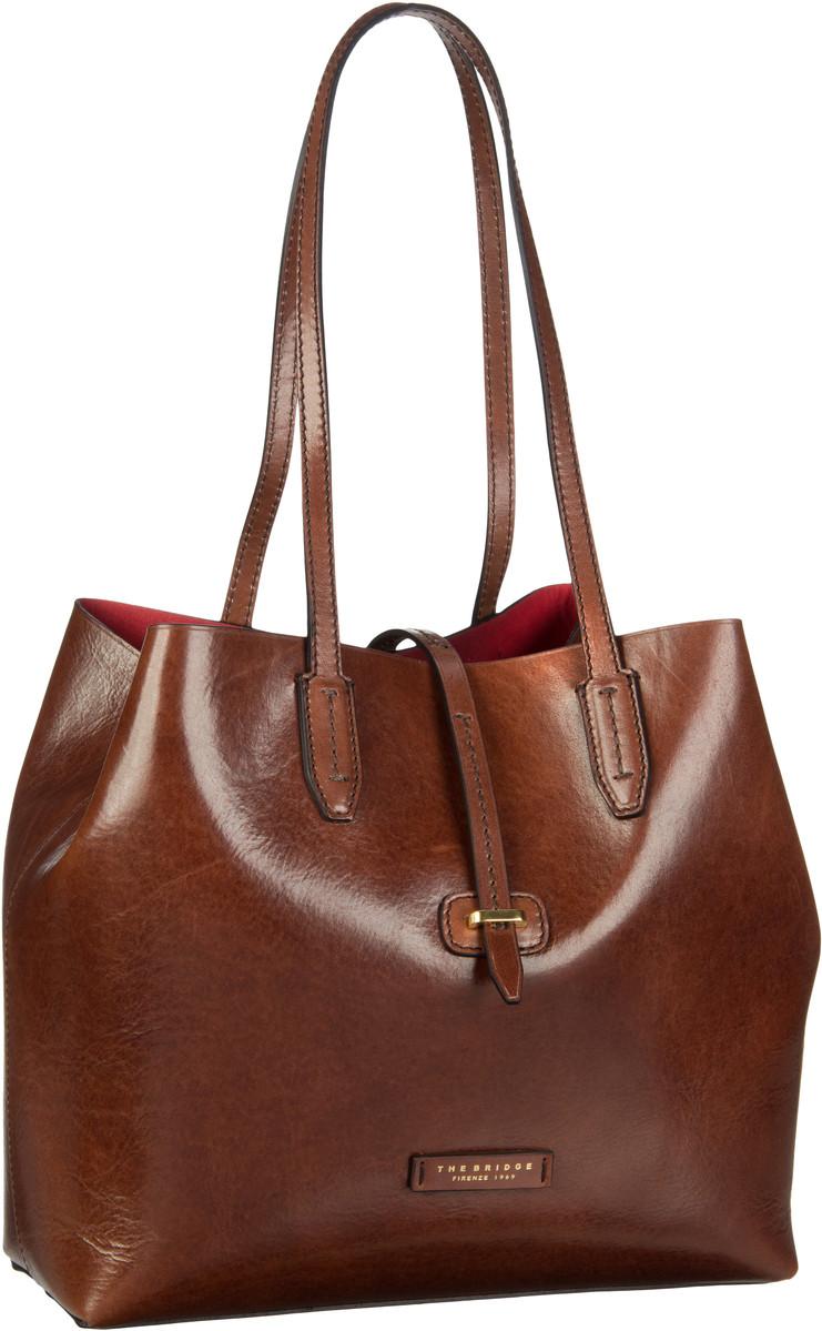 Handtasche Dalston Shopper 1307 Marrone (innen: Rot)