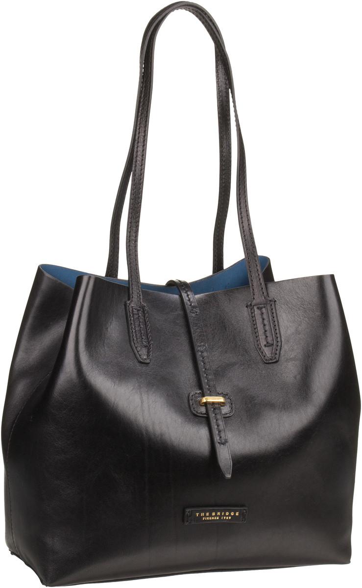 Handtasche Dalston Shopper 1307 Nero/Oro (innen: Blau)