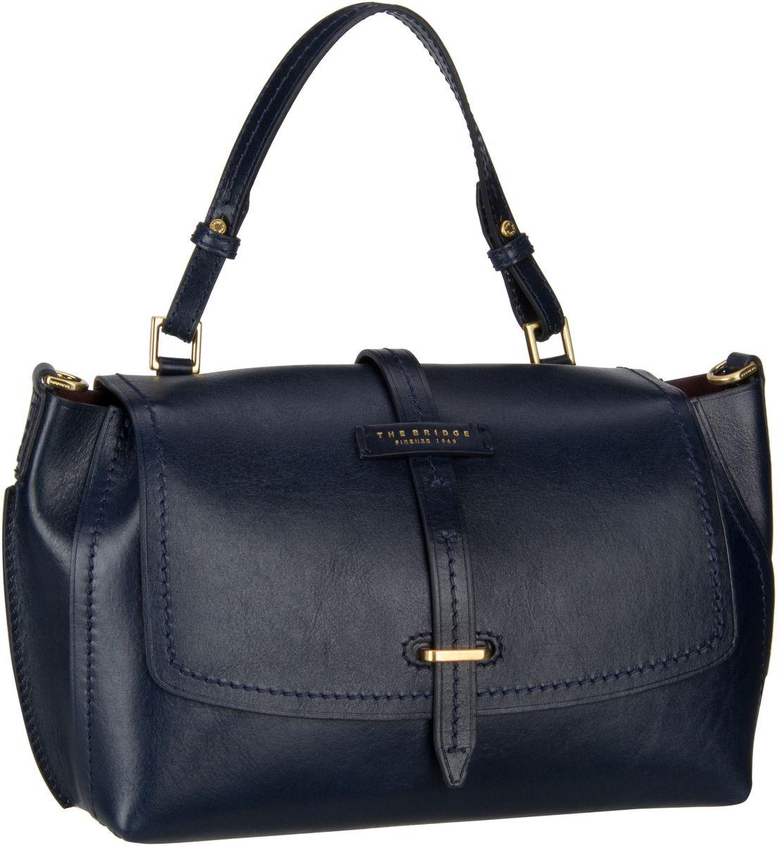 Handtasche Florentin Damentasche 3407 Blu Navy/Oro Vintage
