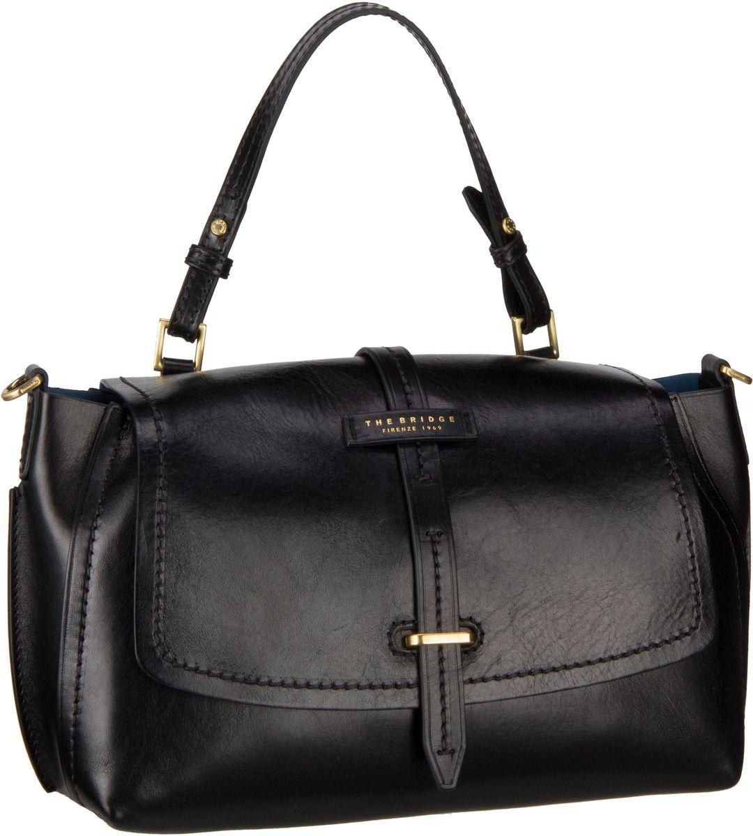 Handtasche Florentin Damentasche 3407 Nero/Oro Vintage (innen: Blau)