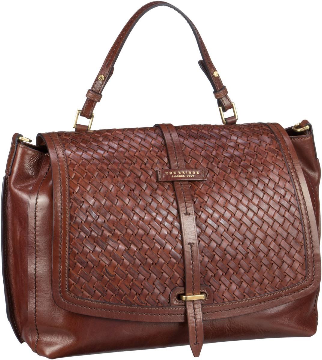 Handtasche Salinger Handtasche 1327 Marrone (innen: Rot)