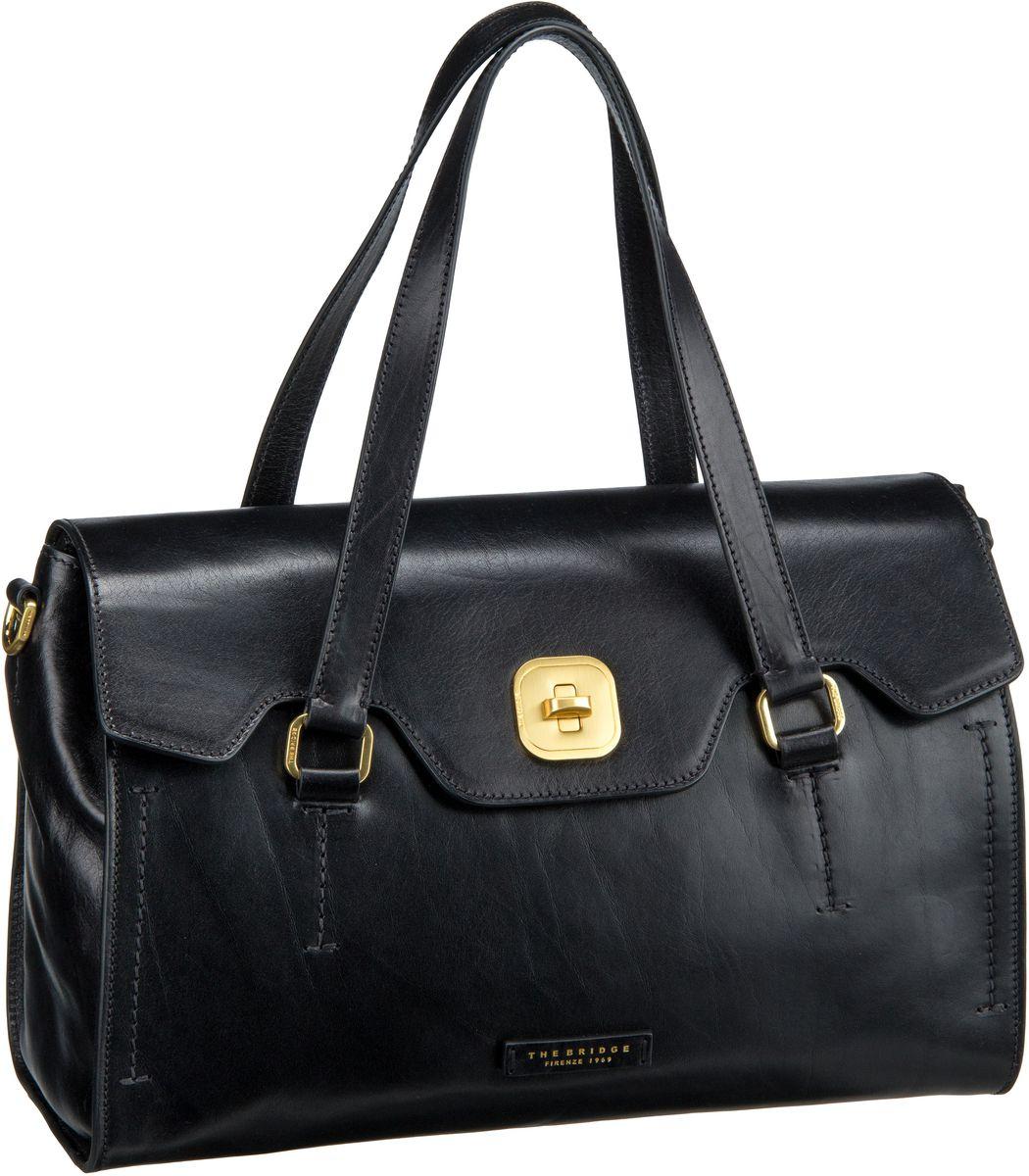 Handtasche Hornby Handtasche 2138 Nero (innen: Rot)